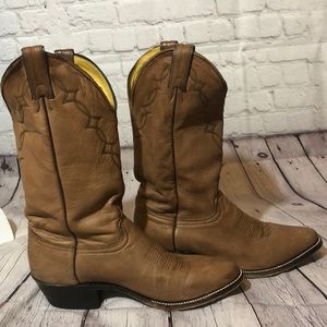 Abilene Cowboy Boots Distressed Leather